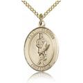 St. Florian Medal - Gold Filled - Medium, Engravable  (#83371)