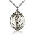 St. Florian Medal - Sterling Silver - Medium, Engravable  (#83373)