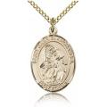 St. Gabriel the Archangel Medal - Gold Filled - Medium, Engravable  (#83386)