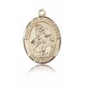 St. Gabriel the Archangel Medal - 14 KT Gold - Medium, Engravable  (#83387)