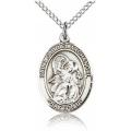 St. Gabriel the Archangel Medal - Sterling Silver - Medium, Engravable  (#19199)