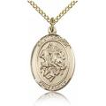 St. George Medal - Gold Filled - Medium, Engravable  (#83389)