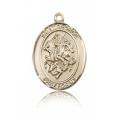 St. George Medal - 14 KT Gold - Medium, Engravable  (#83390)