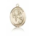 St. Matthew the Apostle Medal - 14 KT Gold - Medium, Engravable  (#83489)