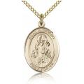 St. Nicholas Medal - Gold Filled - Medium, Engravable  (#83505)