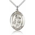 St. Nicholas Medal - Sterling Silver - Medium, Engravable  (#19198)
