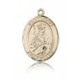 St. Louis Medal - 14 KT Gold - Medium, Engravable  (#83509)