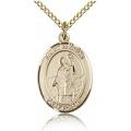 St. Patrick Medal - Gold Filled - Medium, Engravable  (#83514)