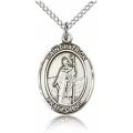 St. Patrick Medal - Sterling Silver - Medium, Engravable  (#19062)