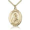 St. Rita of Cascia Medal - Gold Filled - Medium, Engravable  (#83541)