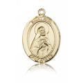 St. Rita of Cascia Medal - 14 KT Gold - Medium, Engravable  (#83542)