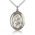 St. Rita of Cascia Medal - Sterling Silver - Medium, Engravable  (#83543)