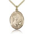 St. Therese of Lisieux Medal - Gold Filled - Medium, Engravable  (#83841)