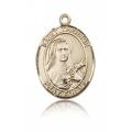 St. Therese of Lisieux Medal - 14 KT Gold - Medium, Engravable  (#83842)