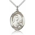 St. Therese of Lisieux Medal - Sterling Silver - Medium, Engravable  (#83843)