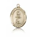 St. Anastasia Medal - 14 KT Gold - Medium, Engravable  (#83851)