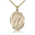 St. Tarcisius Medal - Gold Filled - Medium, Engravable  (#83955)