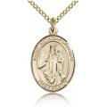St. Anthony of Egypt Medal - Gold Filled - Medium, Engravable  (#84093)