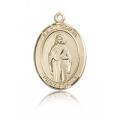 St. Odilia Medal - 14 KT Gold - Medium, Engravable  (#84100)