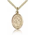 St. Gabriel the Archangel Charm - Gold Filled (#84577)