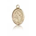 St. Gabriel the Archangel Charm - 14 KT Gold (#84578)