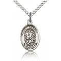 St. George Charm - Sterling Silver (#84582)