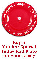 The Red Plate - You Are Special Today Red Plate