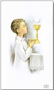 Boys Frist Communion Holy Cards
