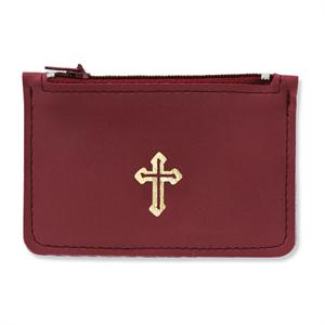 Rosary Case in Burgandy Leather