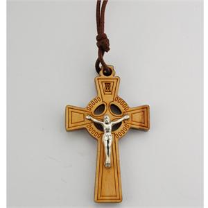 Olive Wood Celtic Crucifix