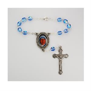Single decade Mother Teresa auto rosary