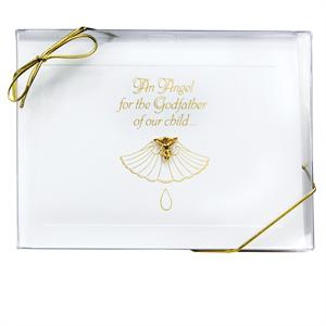 Godfather Gifted Greeting Card with Angel Lapel Pin