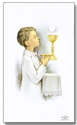 Personalized First Communion Holy Cards - Boy
