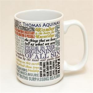 St Thomas Aquinas Quote Mug