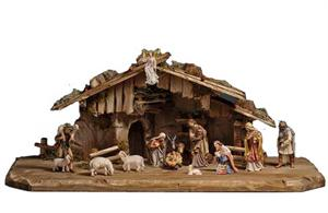 15 Piece Hand Carved Italian Nativity Set
