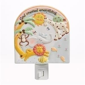 God Created Everything Wall Nightlight