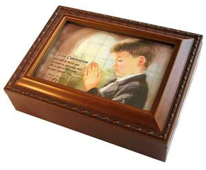 Wood Music box for First Communion Gift - Option B