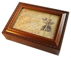 Wood Music box for First Communion Gift - Option G