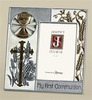 My First Communion Frame in Silver and Gold