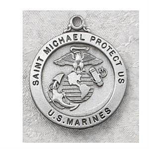 St. Michael Pewter Marine Medal