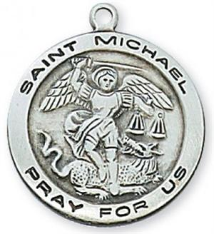St Michael Medal in Sterling Silver (#19019)