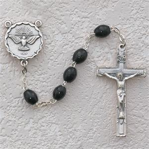 Black Rosary with Holy Spirit Center