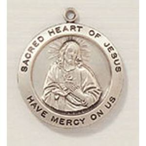 Sacred Heart Medal in Sterling Silver