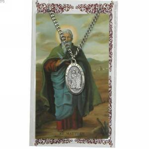 St. Matthew Pendant and Prayer Card Set