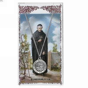 St peregrine pendant holy card 19001 st peregrine pendant and prayer card set mozeypictures Image collections