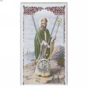 St. Patrick Pendant and Prayer Card Set