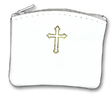 Leather Rosary Case - White