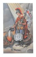 St Florian Firefighter Prayer w Medal Sm