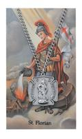 St Florian Firefighter Prayer w Medal Lg