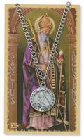 St. Augustine Pendant and Prayer Card Set
